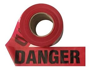 Picture of BARRIER TAPE DANGER TAPE BLACK & RED